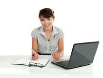 Asian business woman working with laptop Stock Photography