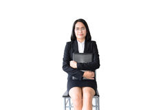 Asian business woman with working suit Royalty Free Stock Photos
