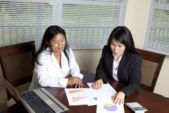Asian Business Women Stock Photography