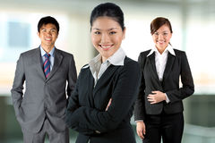 Asian business women with her team. Stock Image