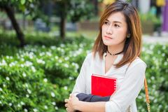 Asian business women worry Stock Photography