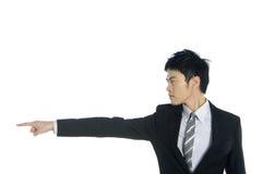 Asian Businessman. Business men show his presentation royalty free stock image