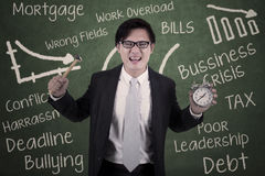 Asian businessman angry Royalty Free Stock Photo