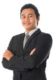 Asian businessman arms folded Stock Images