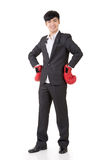 Boxing businessman Stock Images