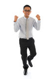 Asian businessman celebrating success Stock Images