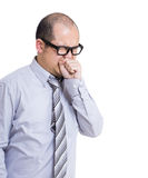 Asian businessman cough Stock Photos