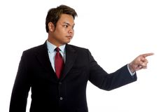 Asian businessman dont care about anything Royalty Free Stock Image