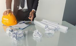 Asian businessman engineering consultation royalty free stock images