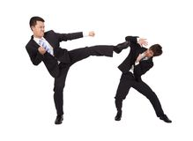 Asian Businessman are fighting Stock Photo