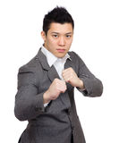 Asian businessman fighting Royalty Free Stock Image