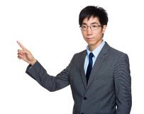 Asian businessman with finger point out Royalty Free Stock Photo