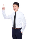 Asian businessman with finger point up Stock Photography