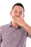 Asian businessman get shock Stock Image