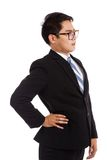 Asian businessman got back pain Royalty Free Stock Image