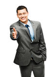 Asian businessman handshake happy Royalty Free Stock Photos