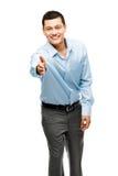 Asian businessman handshake happy Royalty Free Stock Images