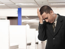 Asian businessman having headache Stock Photos