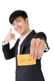Call me business card Royalty Free Stock Photography