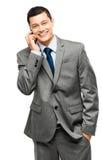 Asian businessman holding phone Stock Image