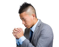 Asian Businessman hope with arm crossed Royalty Free Stock Images