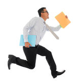 Asian businessman in hurry running Stock Images