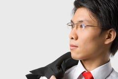 Asian businessman looking away Stock Photo