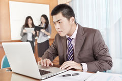 Asian businessman in the office Royalty Free Stock Photo