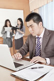 Asian businessman in the office Stock Photos