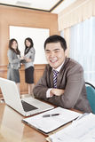 Asian businessman in the office Royalty Free Stock Photos