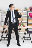 Asian businessman at office royalty free stock image