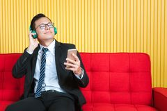 Asian businessman at office royalty free stock photography