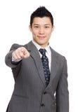 Asian businessman point to you Stock Photos