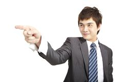 Asian businessman pointing Stock Image