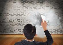 Asian businessman pointing Stock Photos