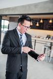 Asian Businessman are pressured to work. And unsuccessful Stock Photography