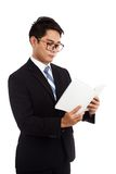 Asian businessman read a book Royalty Free Stock Photography