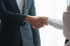 Asian businessman Shake hands Royalty Free Stock Photo