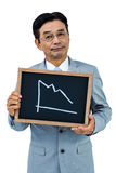 Asian businessman showing black board Royalty Free Stock Images