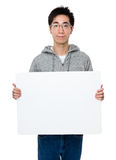 Asian businessman showing the blank sign Stock Photography