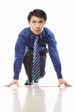 Asian businessman start to run Royalty Free Stock Photo