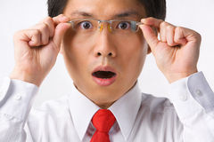 Asian businessman surprised Royalty Free Stock Images