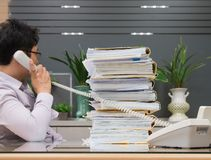asian businessman talking over the telephone royalty free stock photography