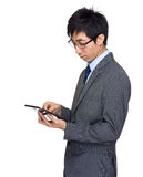 Asian businessman  touch on tablet Stock Photo