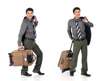Asian businessman traveler Stock Photography