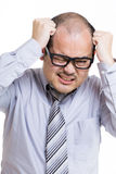 Asian businessman under stress Royalty Free Stock Photo