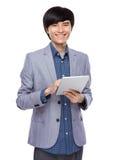 Asian businessman use digital tablet Stock Images