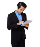Asian businessman use of digital tablet Stock Photo