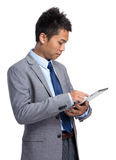 Asian businessman use of digital tablet Stock Photography