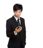 Asian businessman using mobile Royalty Free Stock Photo
